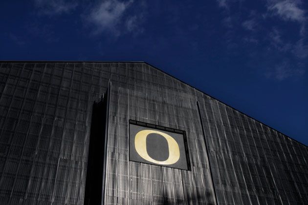 That's no moon...it's the renovated Moshofsky Center. (Chris Pietsch/The Register-Guard)