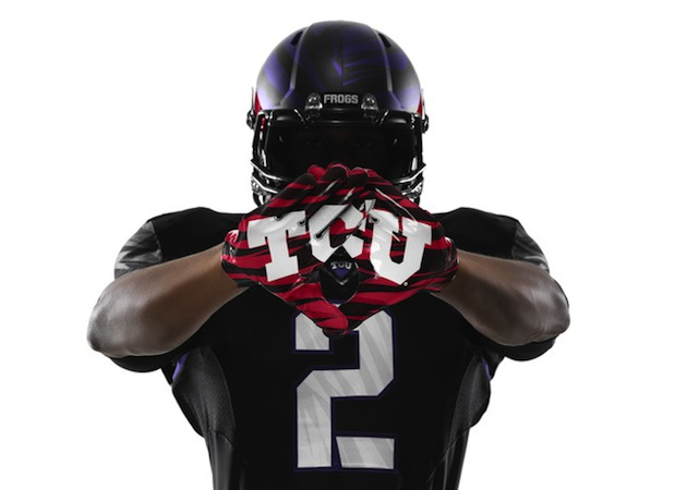 TCU unveils new blood-streaked uniforms for season opener against LSU (Photo)