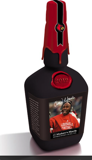 Louisville coach Charlie Strong to appear on a Maker's Mark bottle
