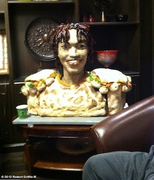 Subway builds RGIII likeness out of meat, bread and cheese