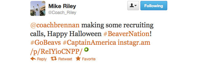 Oregon State assistant shows off his Captain America costume