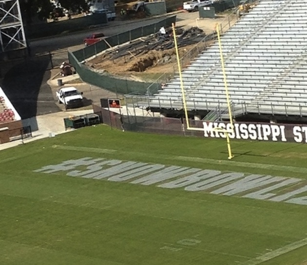 Mississippi State added the hashtag #SNOWBOWL12 to its field