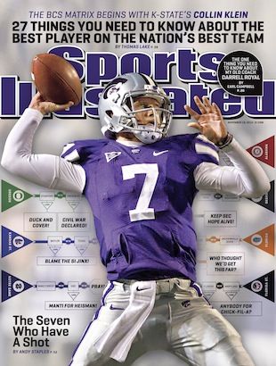 Curse, what curse? Collin Klein appears on the cover of Sports Illustrated this week