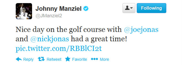 Johnny Manziel's star-filled December continues with Jonas Brothers golf outing