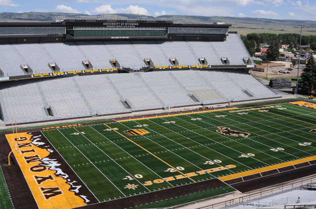 The new design at War Memorial Stadium. (image via University of Wyoming)