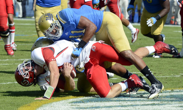 UCLA linebacker Anthony Barr is quite good at football. (Richard Mackson/USA TODAY Sports)