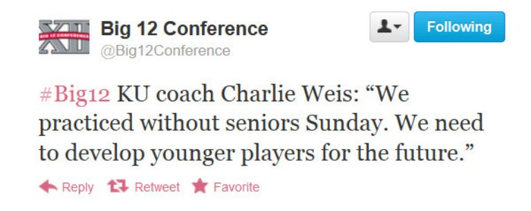 Charlie Weis practices without seniors on Sunday, to 'develop younger players for the future'