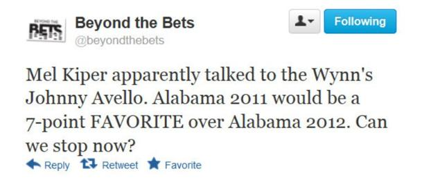 2011 Alabama or 2012 Alabama, who would win?