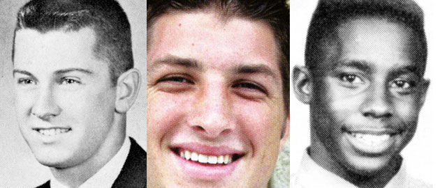 Three rather well-known Heisman winners in their high school days. (Seth Poppel / Yearbook Library)