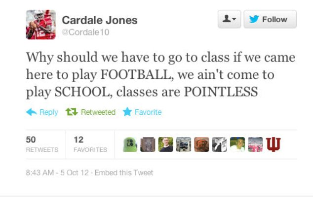 Ohio State backup QB thinks classes are pointless because 'we ain't come to play SCHOOL'