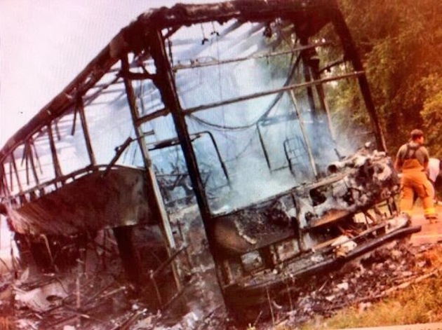 Concordia College Alabama bus following fire (@alastormspotter)