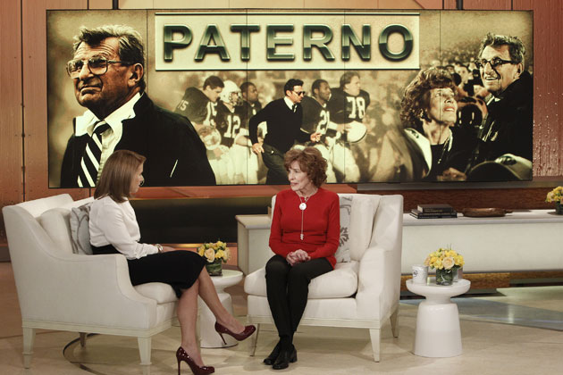 Katie Couric and Sue Paterno. (Getty Images)
