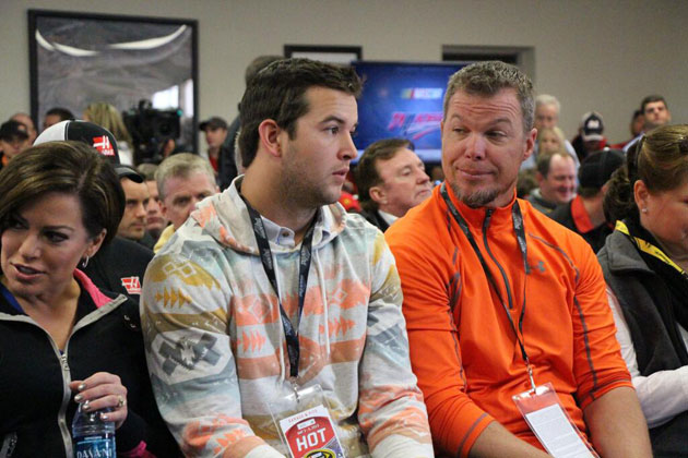 AJ McCarron and Chipper Jones at the drivers' meeting. Caption this. (Via @jshaunburke)