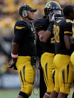 Missouri QB James Franklin (US Presswire)