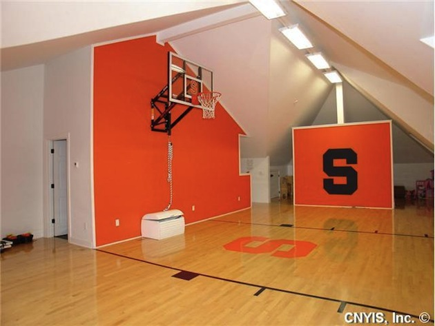 Doug Marrone's Syracuse home includes an indoor Syracuse-themed basketball court