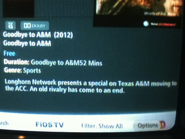 Like any good rival, the Longhorn Network takes one final (perhaps inadvertent) shot at Texas A&M