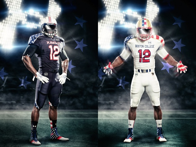 Hawaii and Boston College are the latest teams to go patriotic for Under Armour