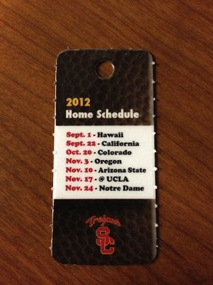 USC claims its home schedule card was not poking fun at UCLA