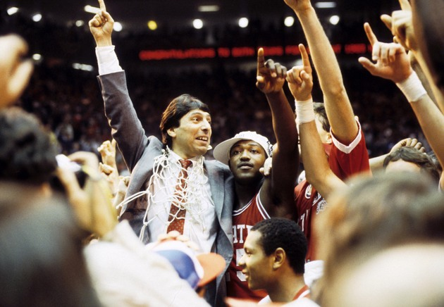 Jim Valvano's 1983 N.C. State team helped grow the popularity of the NCAA tournament (USA Today Sports Images)