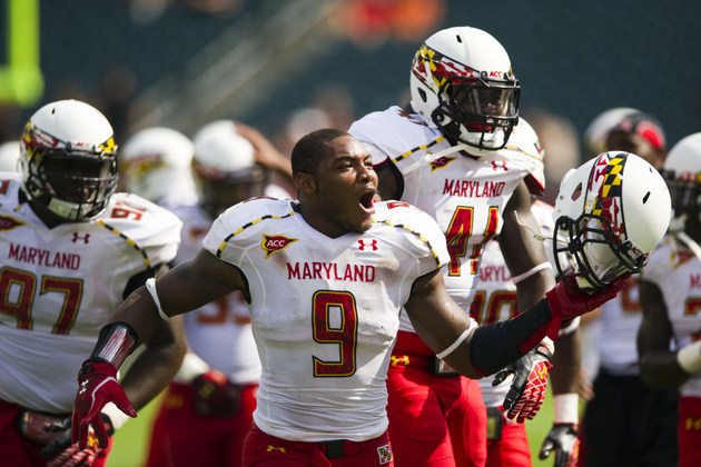 Maryland LB Demetrius Hartsfield (US Presswire)