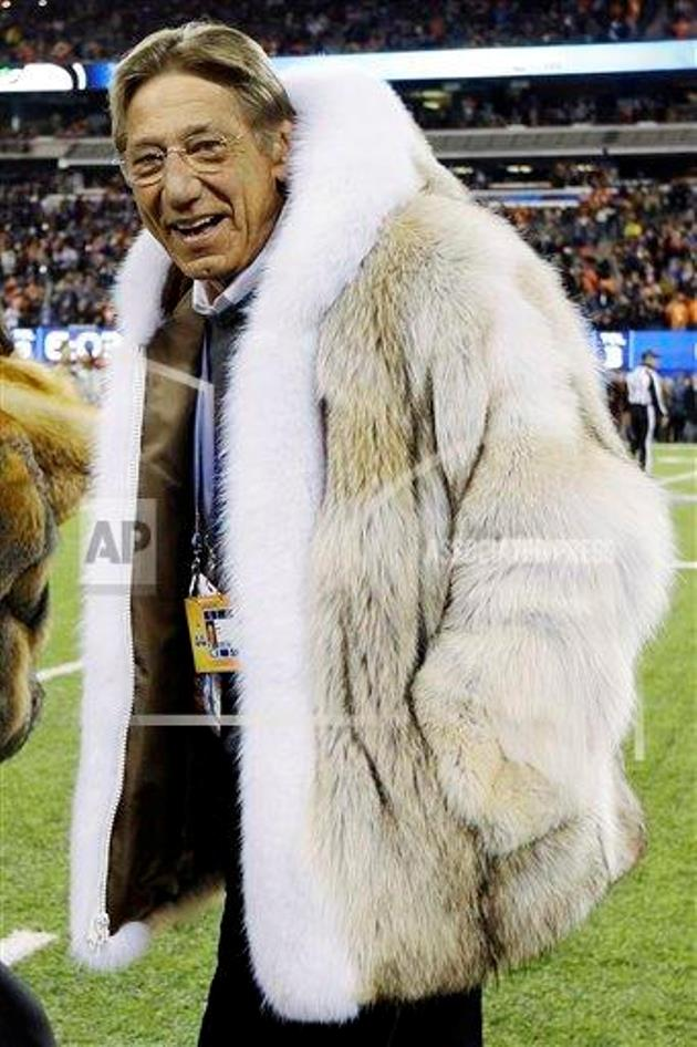 Joe Namath rocks a huge fur coat shows he&39s still the coolest guy
