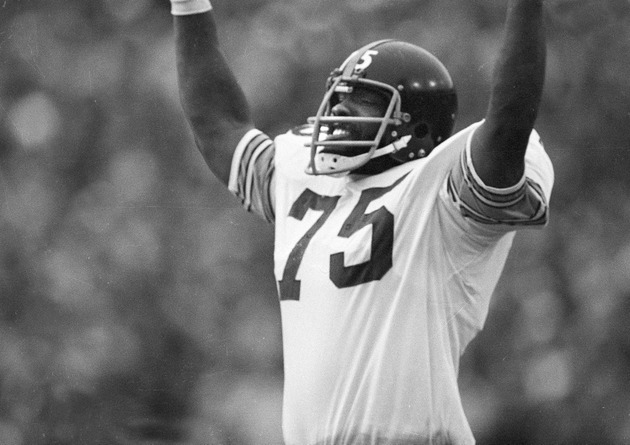 Joe Greene at Super Bowl IX (AP)