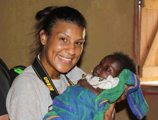 Ashley Harris during one of her trips to Africa. (Pros for Africa)