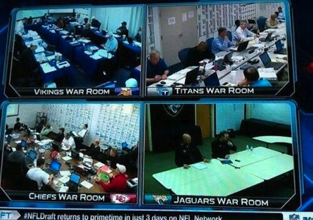 Jacksonville's war room looks a little empty