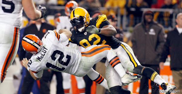 James Harrison blasts Colt McCoy