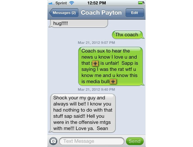 Jeremy Shockey gets Sean Payton to vouch for him in this snitch…