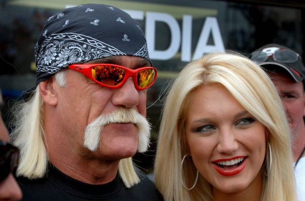 Brooke and Hulk Hogan ... Hulk is the one with the mustache (USA Today Sports Images)
