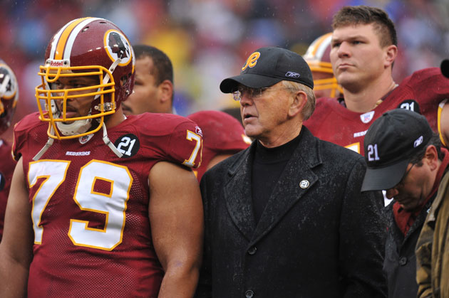 Joe Gibbs in a more familiar locale. (Getty Images)