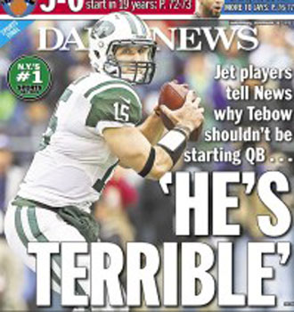 Tim Tebow is 'terrible': Jets teammates, officials rip the heralded backup QB