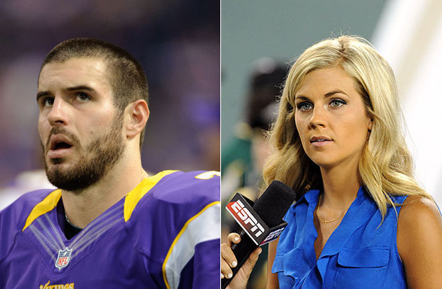 Christian Ponder and Samantha Steele. (Getty Images)