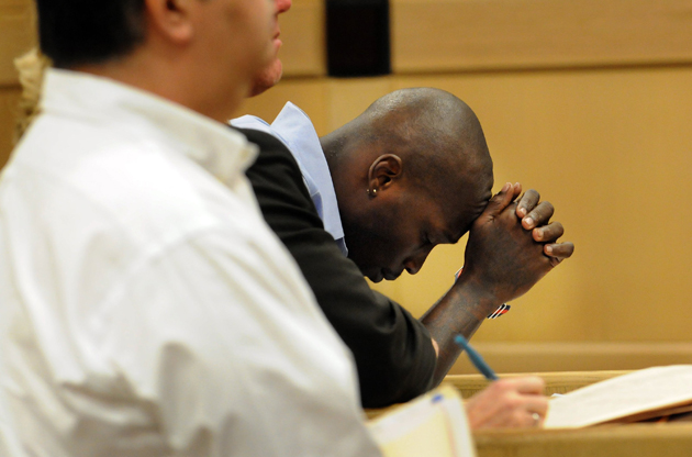 Chad Johnson on June 10, at a hearing that went the wrong way. (AP)