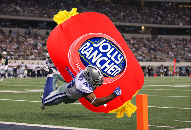 Message to Barry Church: Those Jolly Ranchers are way more dangerous than you think (USA Today Sports Images)