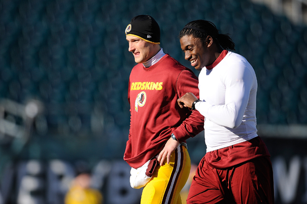 Kirk Cousins is behind RG3 now, but he has an eventual exit strategy. (Getty Images)