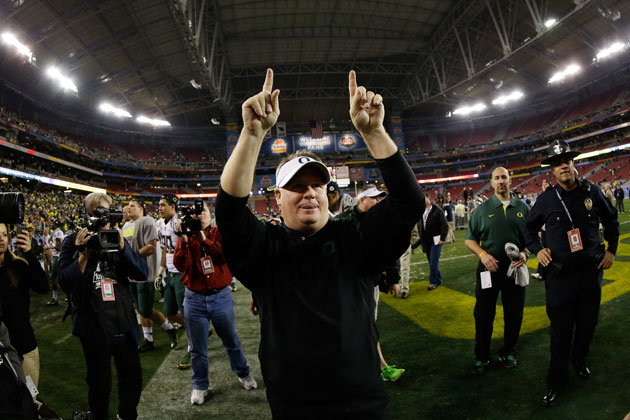 Chip Kelly, Oregon Duck for the final time? (Getty Images)