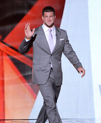 Tim Tebow at the 2012 ESPYs. (Getty Images)