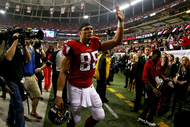 Maybe this wasn't Tony Gonzalez' last time on an NFL field after all. (Getty Images)