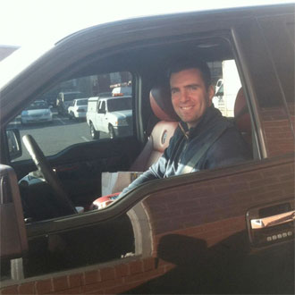 Joe Flacco goes to McDonald's.