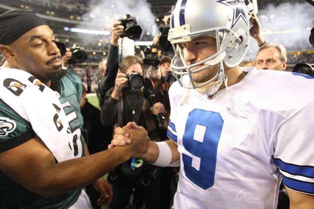 McNabb and Romo in 2010. (Getty Images)