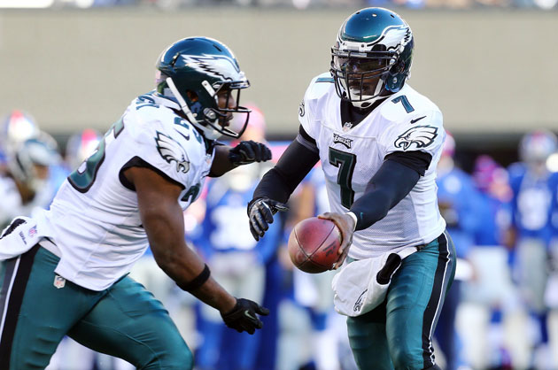 LeSean McCoy and Michael Vick. (Getty Images)