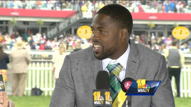 Torrey Smith at the Preakness.