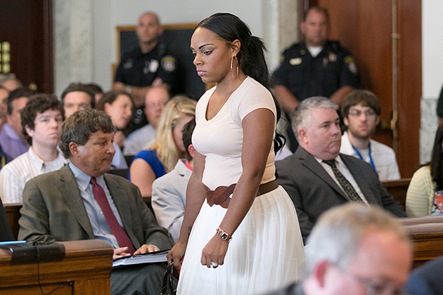 Shayanna Jenkins in court in July. (Getty Images)
