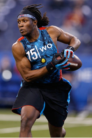 DeAndre Hopkins at the scouting combine. (Getty Images)