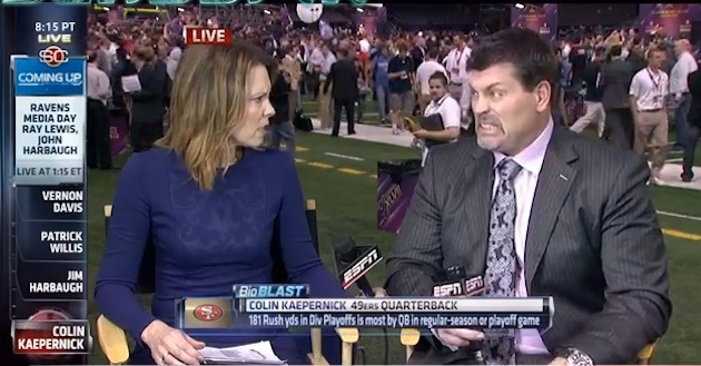 ESPN snafu allows audience to see Hannah Storm and Mark Schlereth doubt Tim Tebow's future