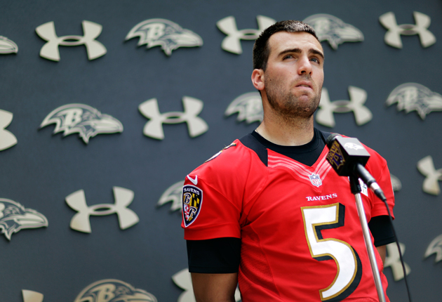 Joe Flacco got what he wanted, but it wasn't always a sure thing. (AP)