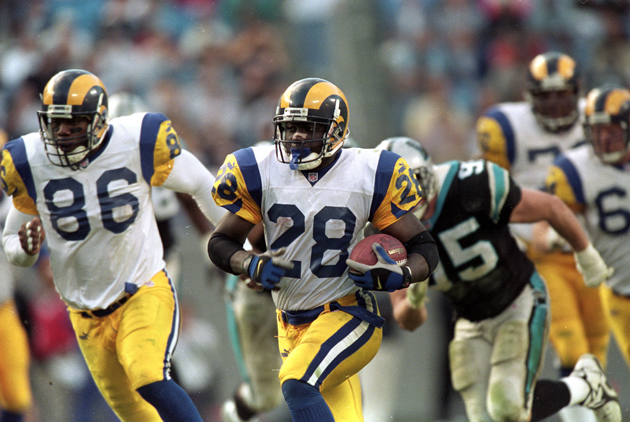 "The ""Greatest Show on Turf"" Rams stretched defenses into some new thought patterns. (Getty Images)"