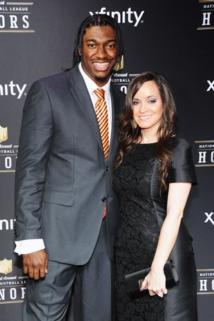 Robert Griffin III and his fiancée Rebecca Liddicoat (Getty)